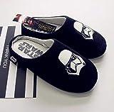 FYL ONE Star Wars - Zapatillas de hombre con lado oscuro de poliéster para casa, zapatillas de algodón 9/10, color negro