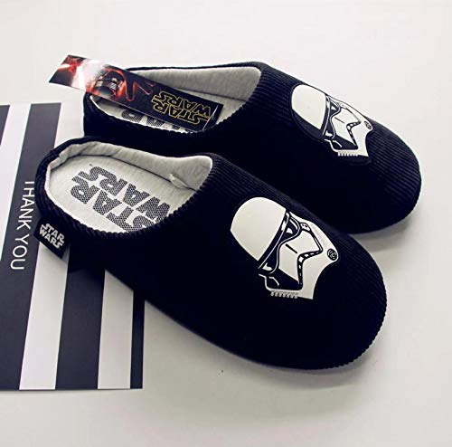 FYL ONE - Pantofole da uomo Star Wars, lato scuro, in poliestere, per casa, in cotone, colore: nero