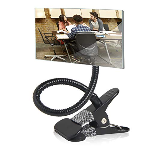Clip On Cubicle Mirror, Computer Rearview Mirror, Convex Mirror for Personal Safety -