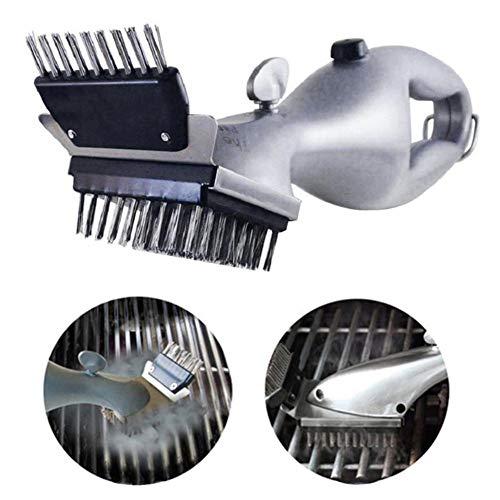 FXXJ Cepillo de Limpieza de Barbacoa, la Parrilla de Vapor 100% a Prueba de óxido Limpiador de Acero Inoxidable Seguro Cerda Libre Barbacoa de Gas/Humo/Infrared Grill/Charcoal