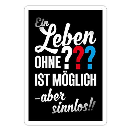 Die DREI ??? EIN Leben ohne Ist Möglich Aber Sinnlos Spruch Sticker, 10 x 10 cm, Mattweiß