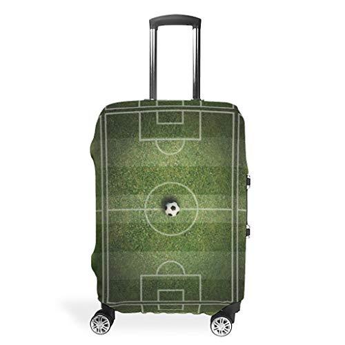 XJJ88 - Funda para Equipaje de Viaje, diseño de Campo de fútbol, Color Verde, Blanco (Blanco) - XJJ88-scc