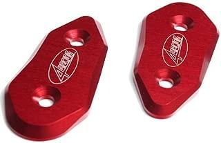 4Racing CNC Aluminum Mirror Block Off Plates Red fits Aprilia RSV4 RSV4R Factory APRC