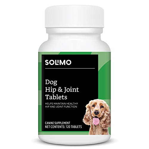 Amazon Brand - Solimo Dog Hip & Joint Chewable Tablets, Duck Flavored, 120 Count