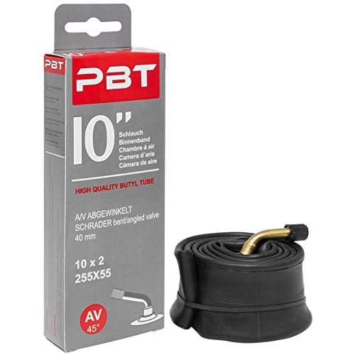 PBT, tubo di 10 pollici (25,4 cm), angolato AV, per carrozzina, scooter e altro, 10 pollici o 10 x 2 - filettatura nichelata