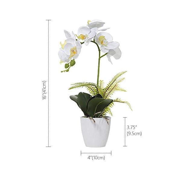 Olrla Blanca phalaenopsis Artificial orquídea Bonsai con cerámica Partido Boda del florero jardín decoración del hogar…