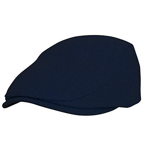 WITHMOONS Sombreros Gorras Boinas Bombines Ivy Cap Straw Weave Linen-Like Cotton Cabbie Newsboy Hat MZ30038 (Navy)