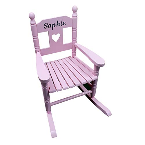 Pink Personalised Kids Chair Rocking Chairs For Nursery Toddler Armchair Childrens Chair With Name On