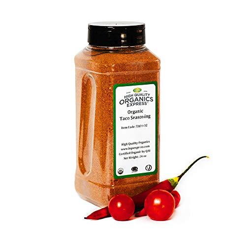 HQOExpress | Organic Taco Seasoning | 24 oz. Chef Jar