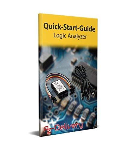 AZDelivery 5 x Logic Analyzer 8 CH, 24MHz mit USB-Kabel, kompatibel mit Arduino inklusive eBook!