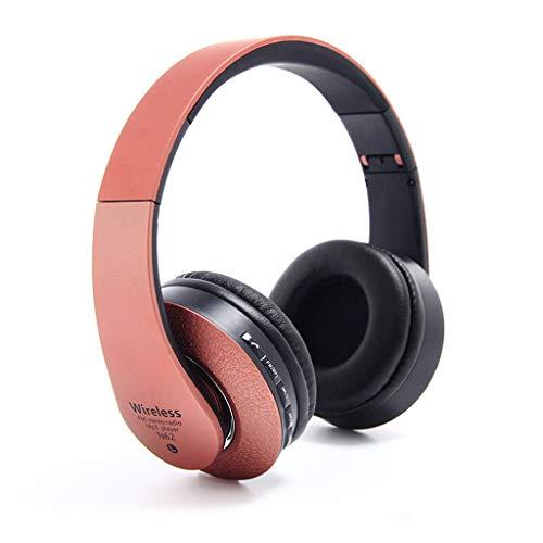 Lecc Auriculares inalámbricos, Bluetooth, micrófono Plegable para Colocar sobre Las Orejas, Auriculares estéreo portátiles con reducción de Ruido, para tabletas, PC, Smart TV, Mp3,Red