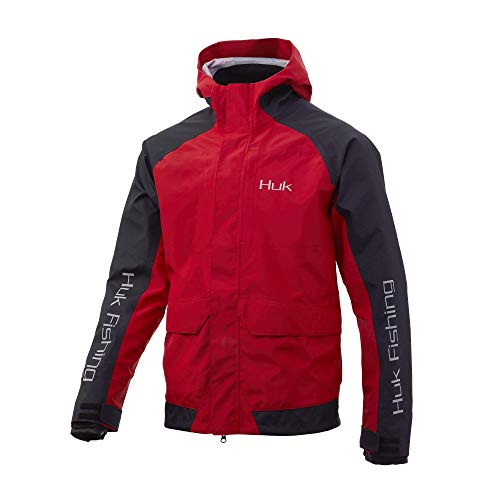 Huk Men's Tournament Fishing Rain Gear Jacket