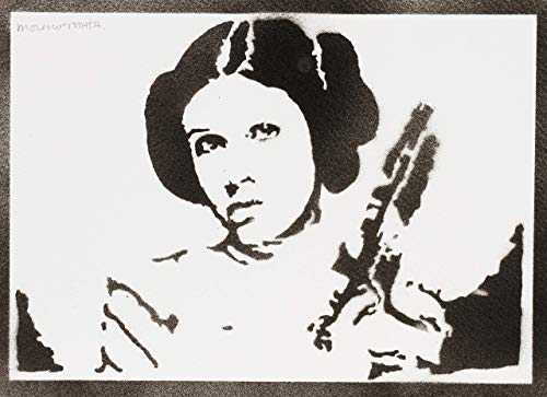 Poster Princesa Leia STAR WARS Grafiti Hecho a Mano - Handmade Street Art - Artwork