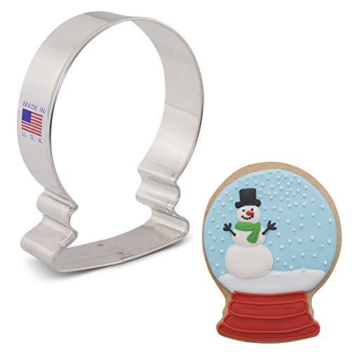 (1, 10cm) - Cortador de biscoitos de globo de neve de inverno - 10cm - Ann Clark - US Estanho Aco