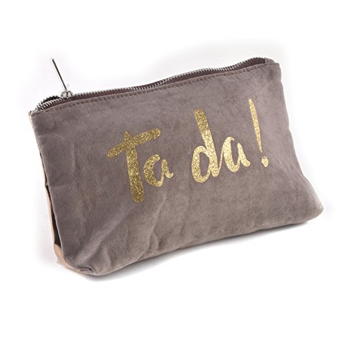 Shruti Design Cosmetic Bag - I Like What I Do. Grey/Silver