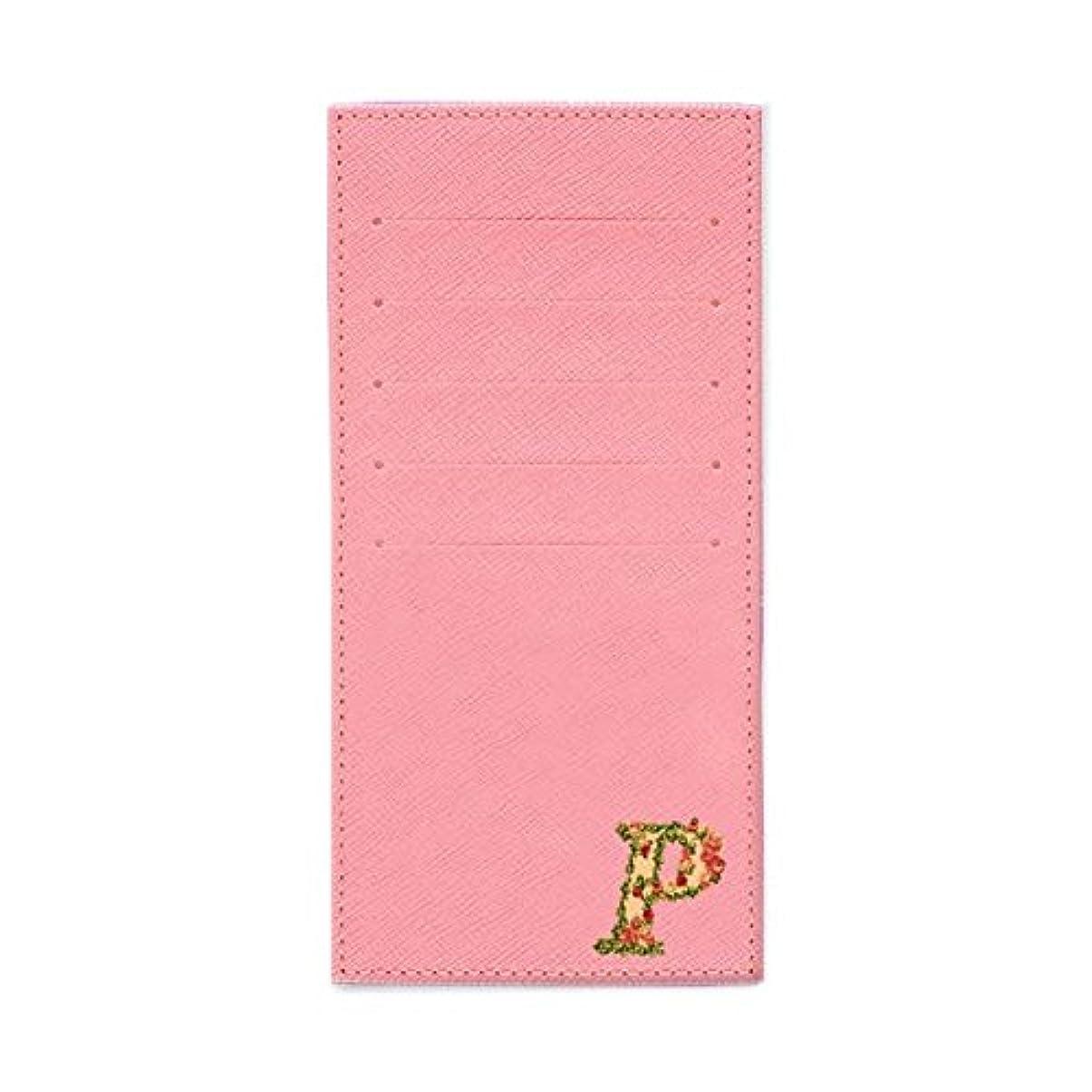 波エンドウ舗装するインナーカードケース 長財布用カードケース 10枚収納可能 カード入れ 収納 プレゼント ギフト 2804フラワーネーム ( P ) パウダーピンク