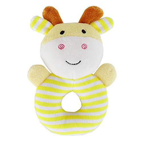 Ndier Baby Soft sonajero Juguetes Infantiles LT Cute Cartoon Animal Elephant Boy Girl Mano Campana Toddler Baby Juguetes Peluche Regalos para bebé, recién Nacido, jóvenes, Unidad