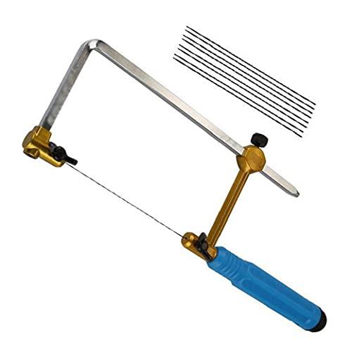 herramientas otro lado Mini sierra para metales ajustable de sierra T Tipo de la joyería Herramientas arte de la mano con 8 Sierra Azul Web