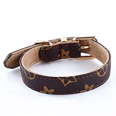 SuperBuddy Dog Collar Genuine Leather Adjustable Pet Collar for Small,Medium,Large,Dogs……
