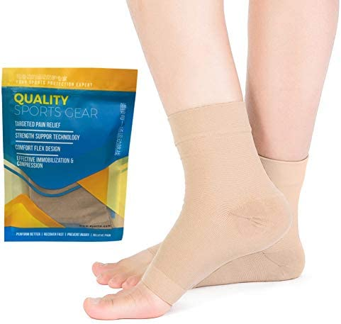 SPOTBRACE Ankle Brace Compression Sleeve Pain Relief Medical Ankle Support Elastic Thin Plantar product image