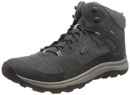 KEEN Women's Terradora 2 Waterproof Mid Height Hiking Boot, Magnet/Ocean Wave, 10 M (Medium) US