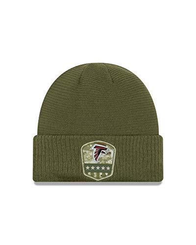 New Era Atlanta Falcons Beanie On Field 2019 Salute to Service Knit Olive - One-Size