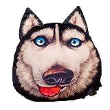 SUNSER Almohada De Juguete De Peluche Erha, Forma Husky, Almohada De La Cabeza del Perro De Simulación 3D, con Manta, Decoración del Hogar,Daze
