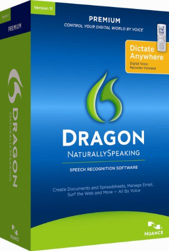 Dragon NaturallySpeaking Premium 11 with Digital Recorder [Old Version]