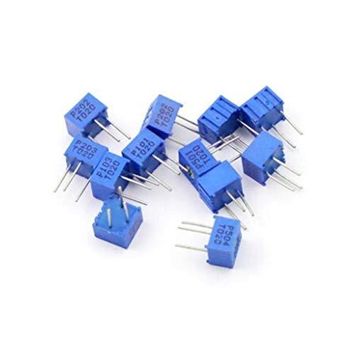 JSJJAQW Potenciómetro 100pcs Trimmer Potenciómetro 3362P 100K 104 Resistencias Ajustables 3362 104 Resistores Variables 100K Ohms