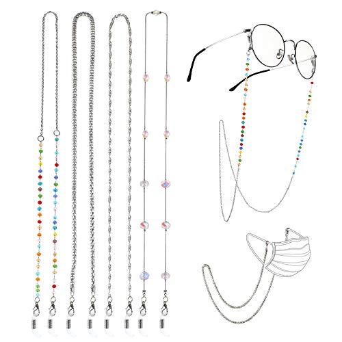 Hifot Cordones para Gafas 4 Piezas, Cadena Gafas de Sol Lectura, Cordon Correas para Máscara mascarillas Hombre Mujer niños