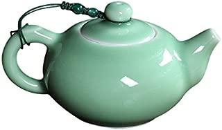 ufengke Oriental Cute Green Longquan Celadon Porcelain Teapot, Yixing Kung Fu Teapot For One Person, Green