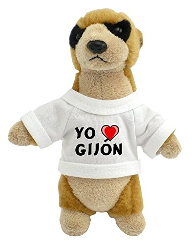 Suricata personalizada de peluche (juguete) con Amo Gijón