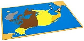 Kid Advance Montessori Puzzle Map of North America with Control Maps