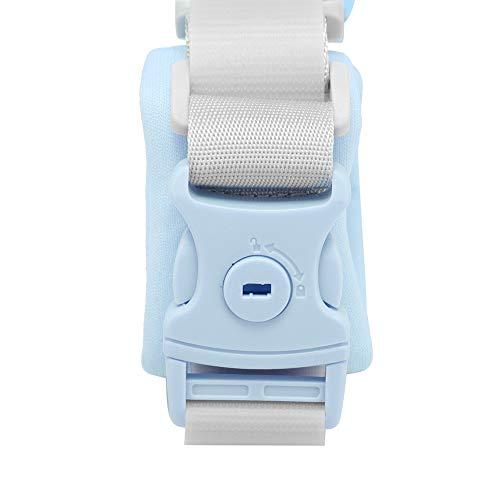 Correa de seguridad para niños de triple protección, correa de muñeca, resistente al desgaste, giratoria de 360 grados, para caminar al aire libre para bebés y niños(blue)
