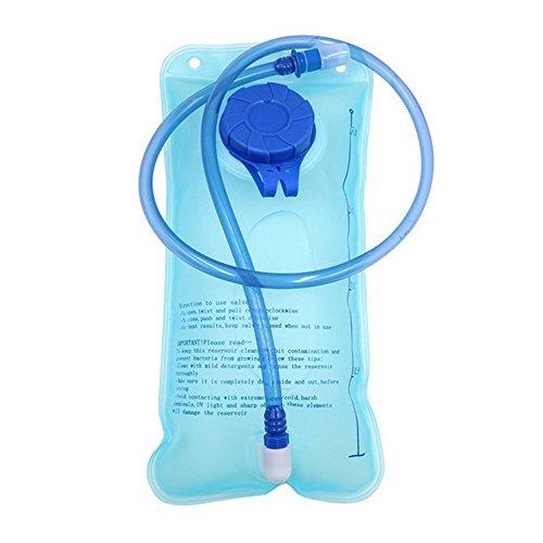 2 Liter Trinkblase Trinkblase Wasserblase Sport Wasser Blasen für den Außenbereich (2L Blau Trinkblase)