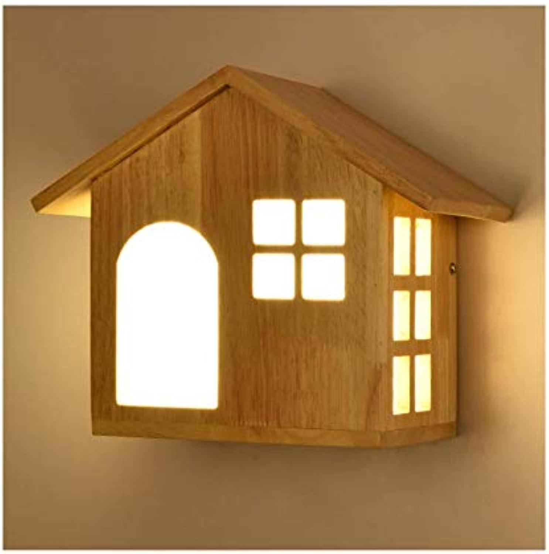 MZ LED-Massivholzwand Lampe, japanische Holzlampe, geeignet für Schlafzimmer, Wohnzimmer, Speisesaal, Küche, Etc. (ohne Stand)