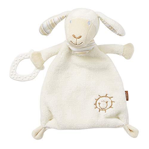 Fehn 154436 Schmusetuch Schaf – Schnuffeltuch mit Softbeißer – Zum Kuscheln für Babys und Kleinkinder ab 0+ Monaten – Maße: 25 cm