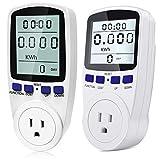Kuman Electricity Usage Monitor Plug Power Meter Energy Watt Voltage Amps Meter 2 Pack