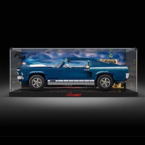 Ditzz Acrilico Vetrina, Antipolvere Display Case per Lego 10265 Ford Mustang (Non Include Il Modello Lego)