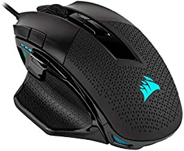 Corsair Nightsword RGB - Comfort Performance Tunable FPS/MOBA Optical Ergonomic Gaming Mouse with Backlit RGB LED, 18000 DPI, Black
