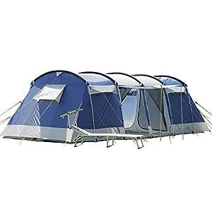 Skandika Montana Family Group Tunnel Tent with Sun Canopy, 200 cm Peak Height, 5000 mm Water Column