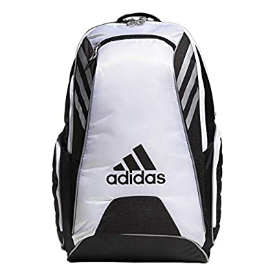 adidas Unisex Tour Tennis 12 Racquet Bag, Black/White/Silver, ONE SIZE