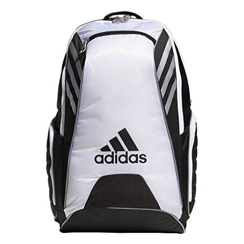 adidas Unisex Tour Tennis Racquet Backpack, Black/White/Silver, ONE SIZE