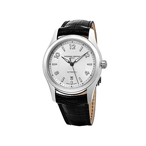 FREDERIQUE CONSTANT Herren Binär Automatik Uhr mit Leder Armband FC-303RMS6B6