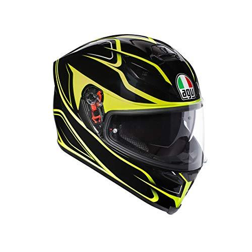 Casco Moto integral amarillo y negro