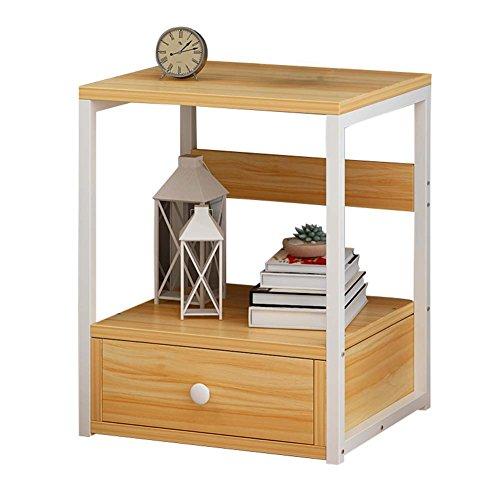 Table de chevet JCOCO Simple Panneau à Base de Bois, avec tiroir et étagère de Rangement, de Stockage de casier de Chambre à Coucher (Couleur : #1)