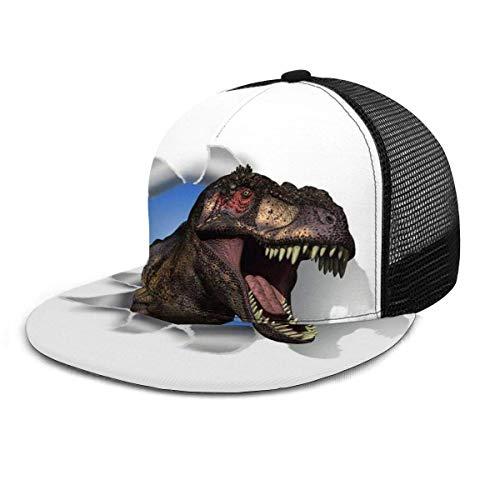 NA Gorra de béisbol Tyrannosaurus Rex Cabeza a través de la pared Dinosaurio Adulto Unisex Moda Gorras de béisbol Strapback ajustable