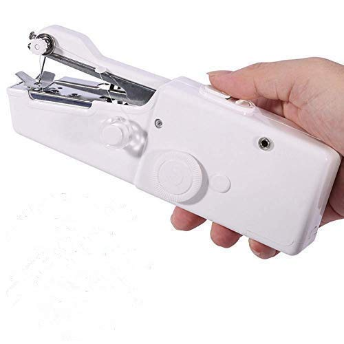 CARYWON Máquina de Coser portátil, Máquina de Coser de Mano, Máquina de Coser, Máquina de Coser, Paño para niños, Uso en el hogar(White)