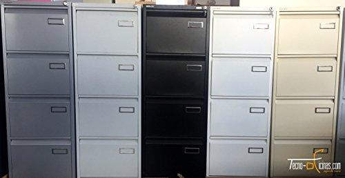 Bisley PSF4 - Schedario metallico a 4 cassetti