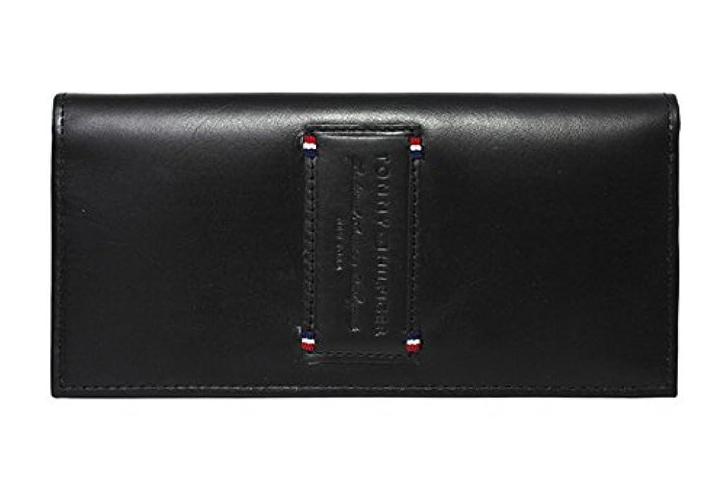 どういたしまして慈悲着飾るトミーヒルフィガー 財布 TOMMY HILFIGER 長財布 31TL19X017-001 (0092-5640/01) ブラック (小銭入れ有) 財布 ウォレット サイフ レザー(革) メンズ 男性 トミー シンプル [並行輸入品]